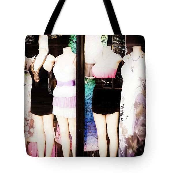 Window Shopping Tote Bag by Lisa McStamp