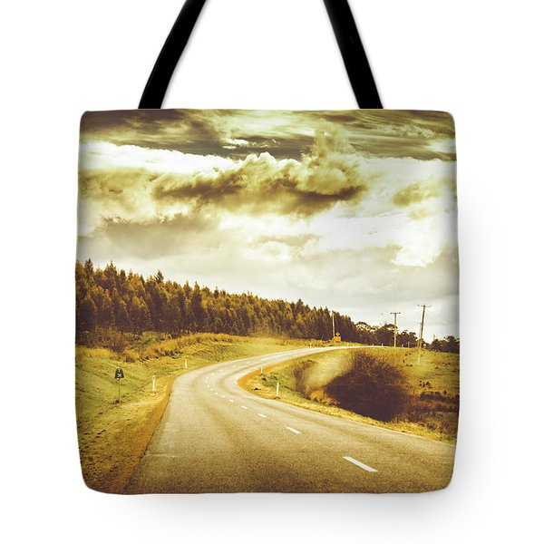 Window To A Rural Road Tote Bag by Jorgo Photography - Wall Art Gallery