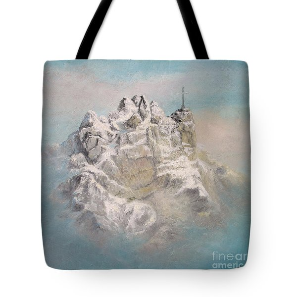 Tote Bag featuring the painting Window To Sky by Sorin Apostolescu
