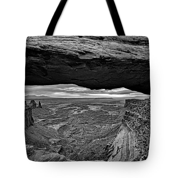 Window To The Canyon Below Tote Bag