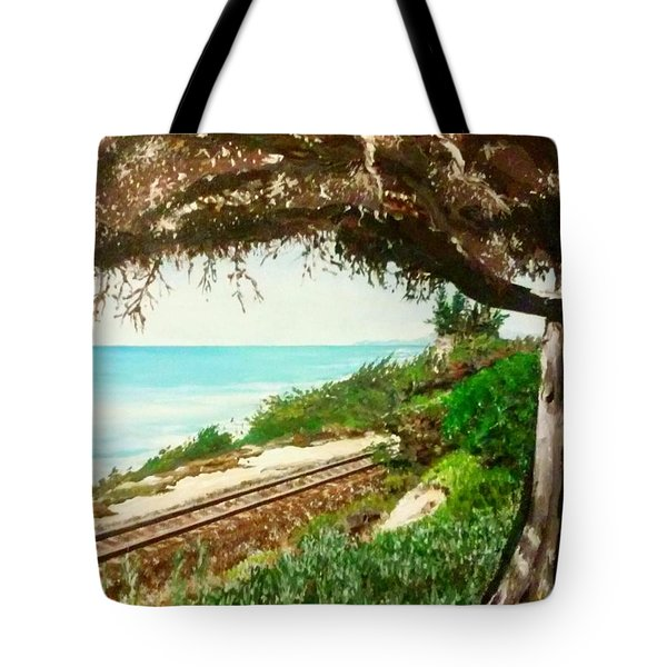 Window To The Pacific Tote Bag