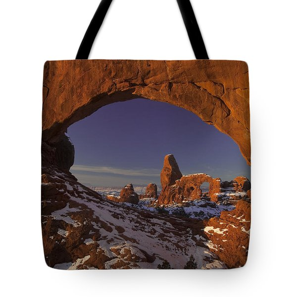 Window To Turret Tote Bag