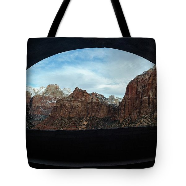 Window To Zion Tote Bag