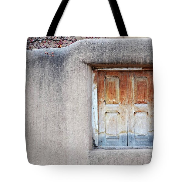 Tote Bag featuring the photograph Window Tree Berries by Andrea Hazel Ihlefeld