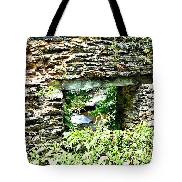 Window View Of Sope Creek Tote Bag
