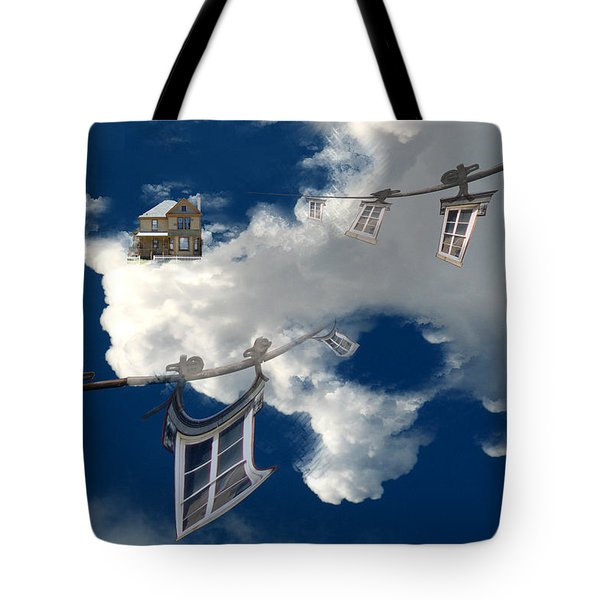 Windows And The Sky Tote Bag by Christopher Woods