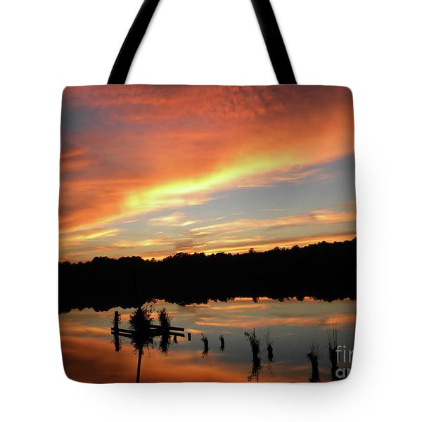 Windows From Heaven Sunset Tote Bag