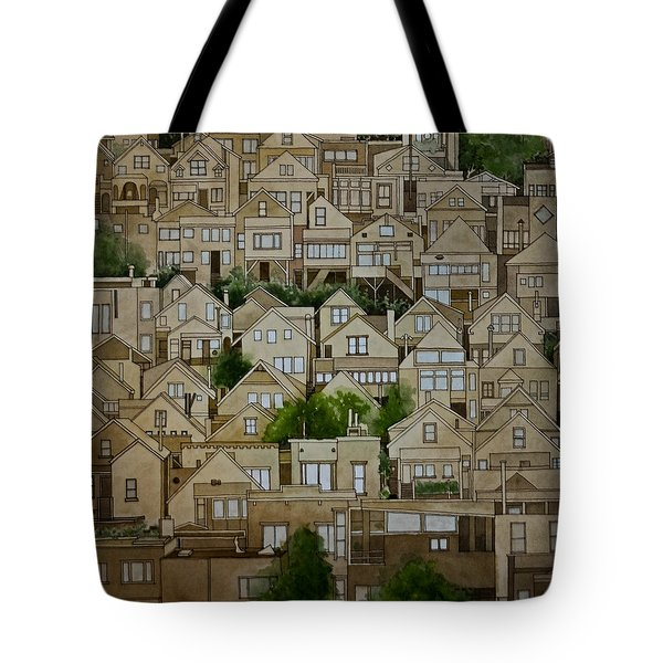 Windows Of Bernal Heights Tote Bag