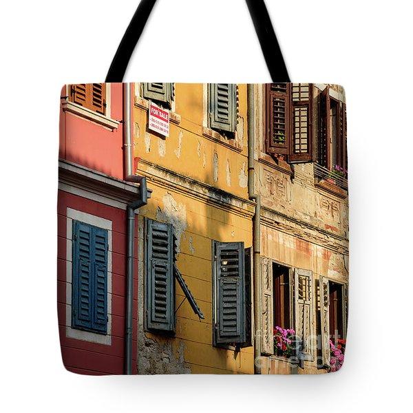 Windows Of Rovinj, Istria, Croatia Tote Bag