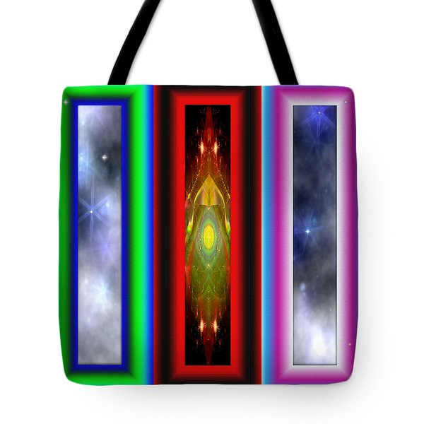 Tote Bag featuring the digital art Windows To Fractal Reality by Mario Carini