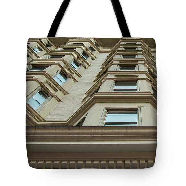 Tote Bag featuring the photograph Windows To The World Atlanta Architecture Art by Reid Callaway