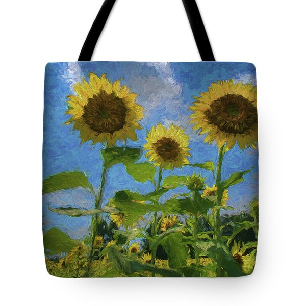 Windsor Castle Sunflowers Tote Bag