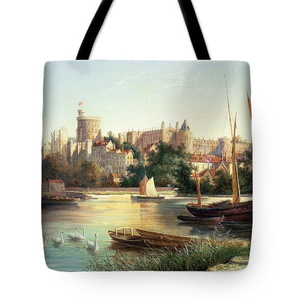 Windsor From The Thames   Tote Bag by Robert W Marshall