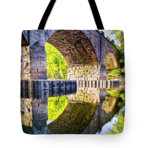 Windsor Rail Bridge Tote Bag by Tom Cameron