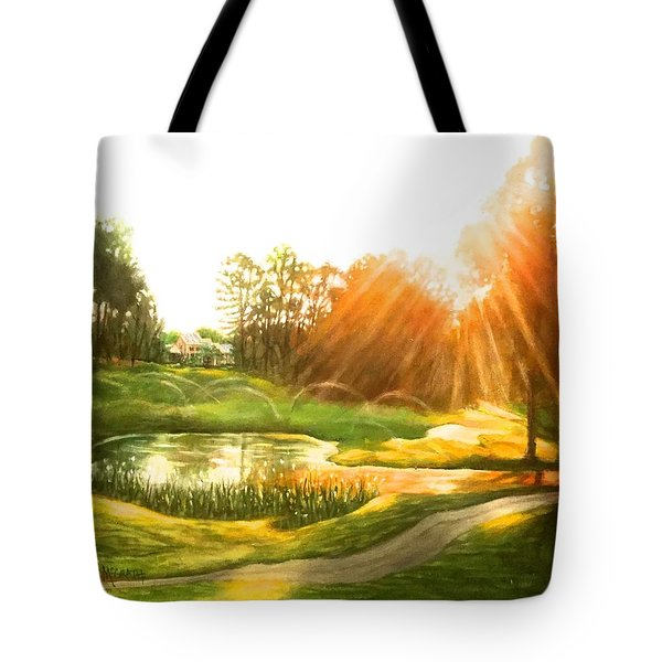 Windstone 13th Green Tote Bag by Janet McGrath