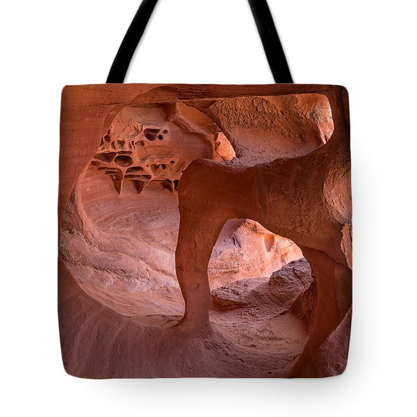 Tote Bag featuring the photograph Windstone Arch by Patricia Davidson