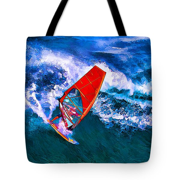 Windsurfer 1 Tote Bag by ABeautifulSky Photography