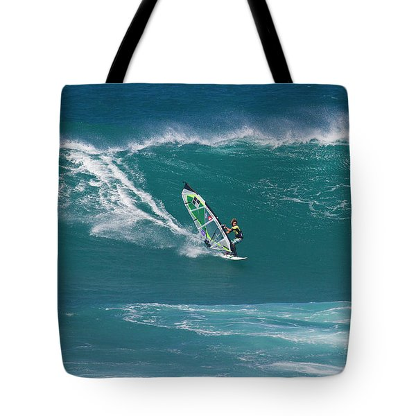 Windsurfer At Hookipa, Maui Tote Bag