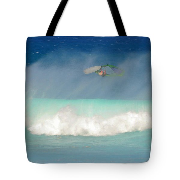 Windsurfer In The Spray Tote Bag