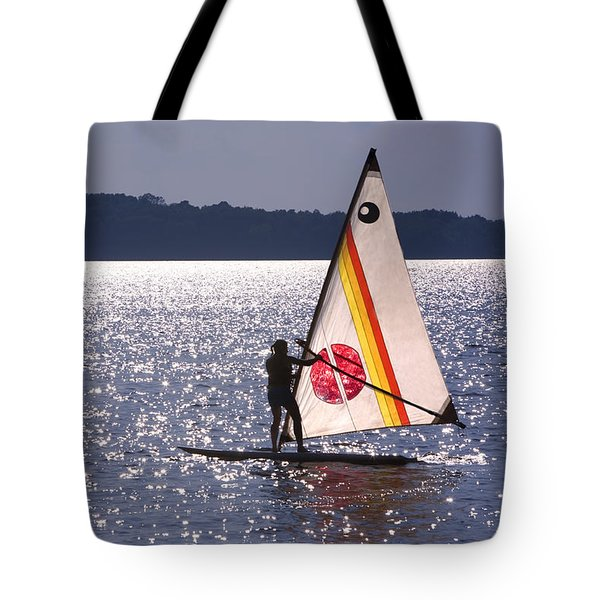 Windsurfing Lake Champlain Tote Bag by George Robinson