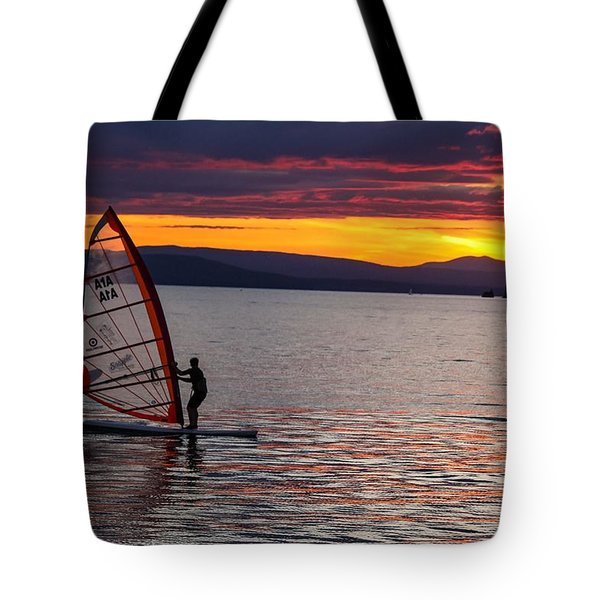 Windsurfing Lake Champlain Tote Bag