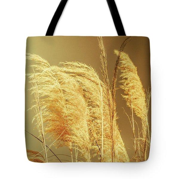 Windswept Autumn Brush Grass Tote Bag