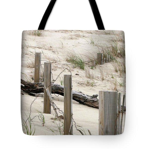 Windswept Beach Fence Cape Cod Massachusetts Tote Bag