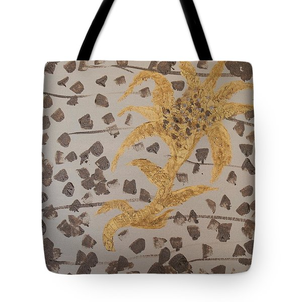 Windswept Golden Plantae #4 Tote Bag by Rachel Hannah