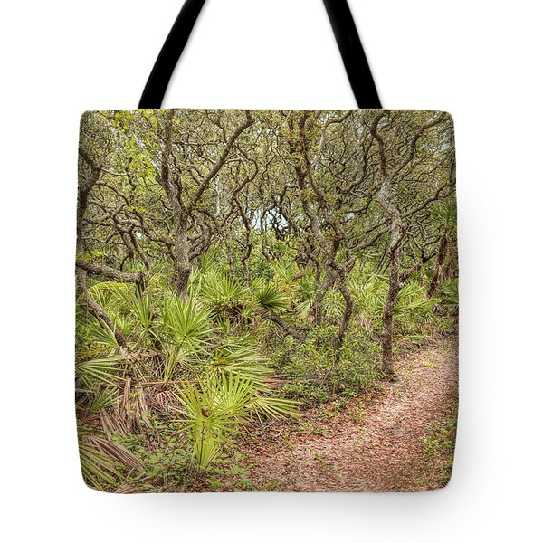 Tote Bag featuring the photograph Windswept Hammock by John M Bailey
