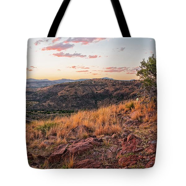 Windswept Lone Oak Overlooking Limpia Creek Valley - Davis Mountains State Park - West Texas Tote Bag