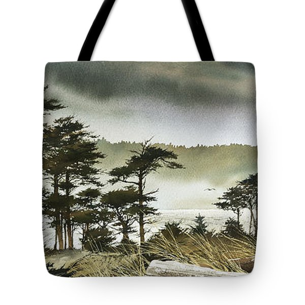 Windswept Shore Tote Bag by James Williamson