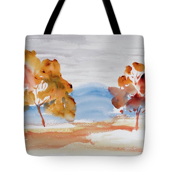 Windy Autumn Colours  Tote Bag