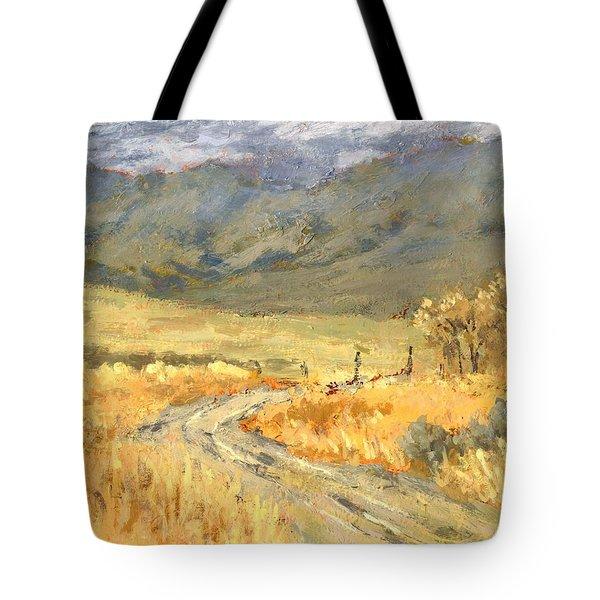 Windy Autumn Tote Bag