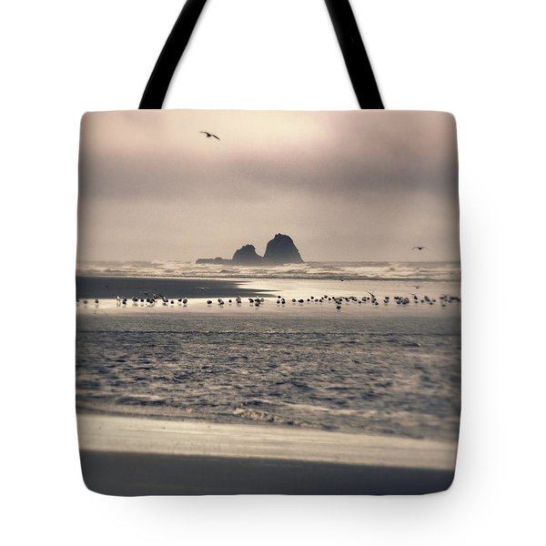 Tote Bag featuring the photograph Windy Balmy Day At The Beach by Tikvah's Hope