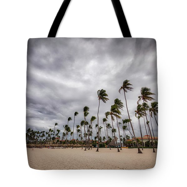 Windy Beach Tote Bag