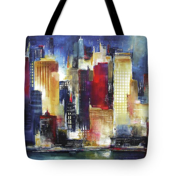 Windy City Nights Tote Bag