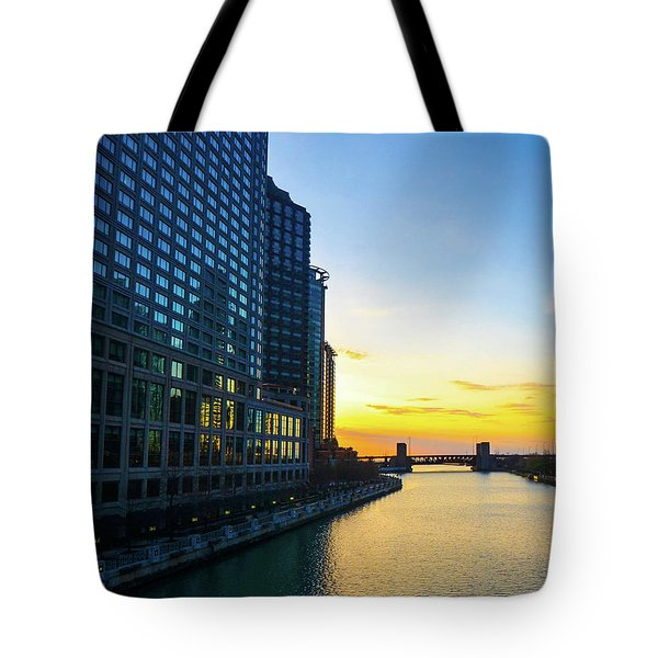 Windy City Sunrise Tote Bag