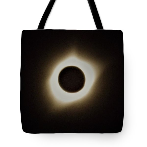 Windy Corona During Eclipse Tote Bag