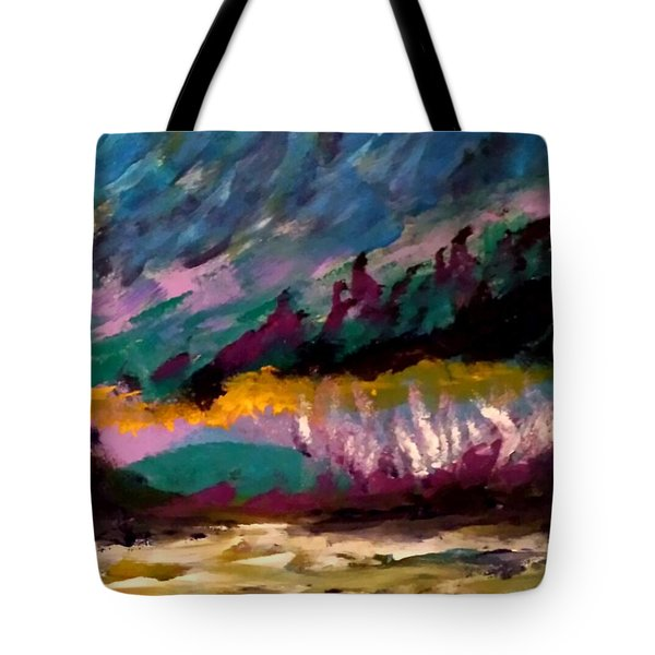 Windy Day On Gulf Islands Tote Bag