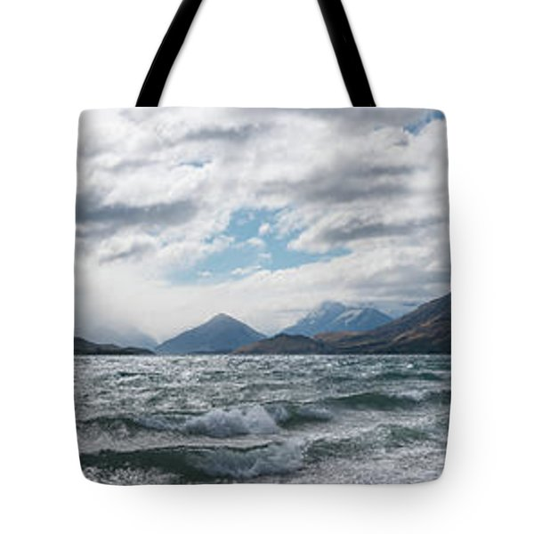 Tote Bag featuring the photograph Windy Day On Lake Wakatipu by Gary Eason