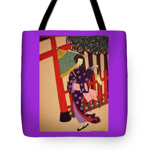 Tote Bag featuring the painting Windy Day by Stephanie Moore
