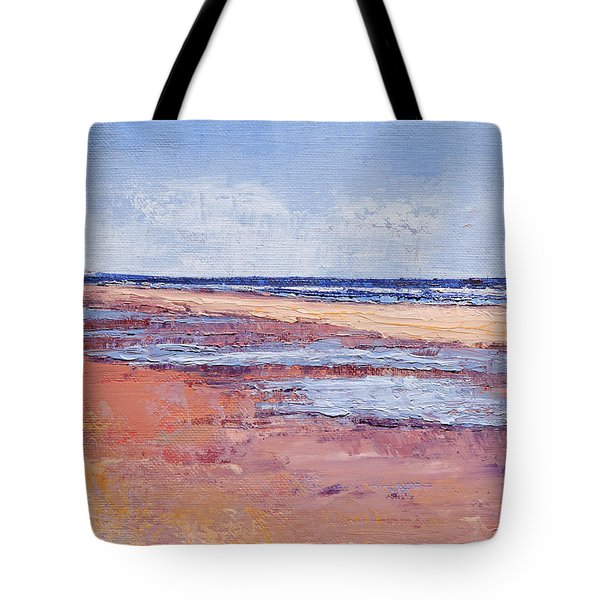 Windy October Beach Tote Bag