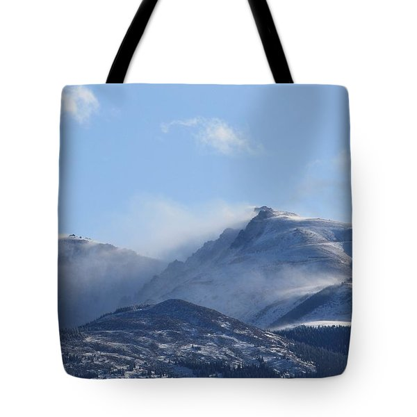 Windy Pikes Peak  Tote Bag