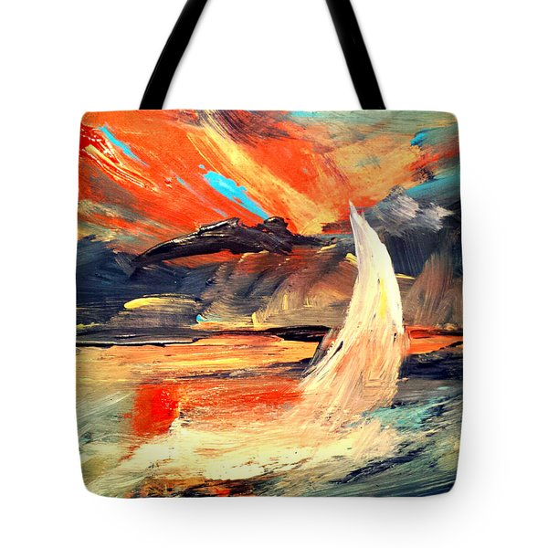 Windy Sail Tote Bag