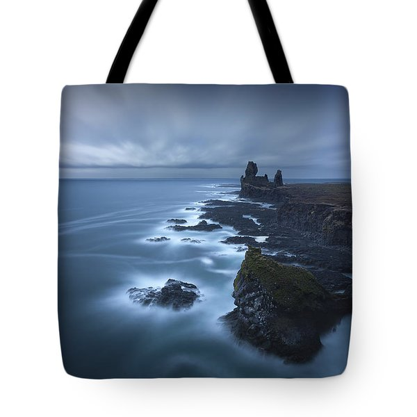 Windy Swirls Tote Bag by Dominique Dubied