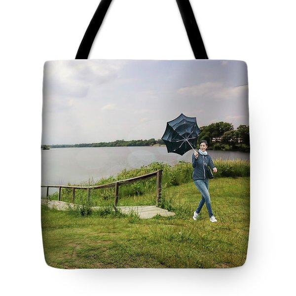 Windy Walk Tote Bag