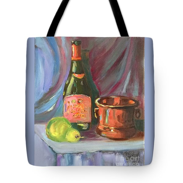 Wine And Fruit Tote Bag