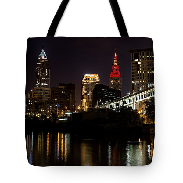 Wine And Gold In Cleveland Tote Bag by Dale Kincaid