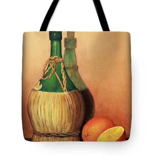 Wine And Oranges Tote Bag