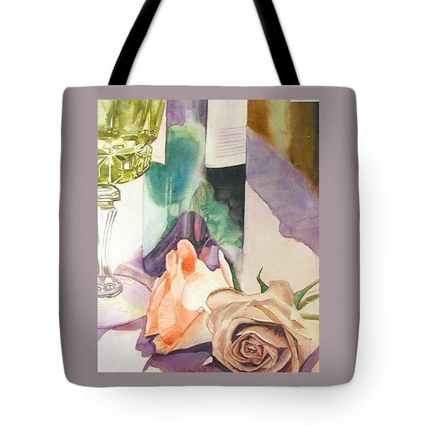 Tote Bag featuring the painting Wine And Roses by Martha Ayotte